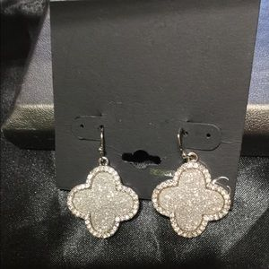 Jewelry - Pave Clear Stone Spade Earrings